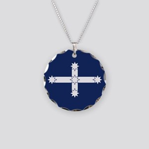 Eureka Flag Necklace Circle Charm