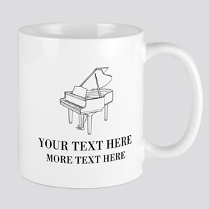 Custom Mugs For Piano Teacher Or Musician