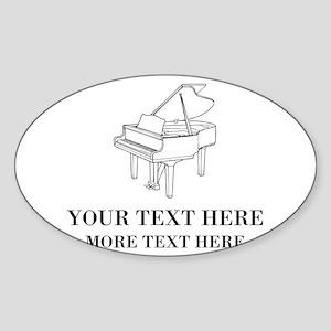 Custom piano Sticker