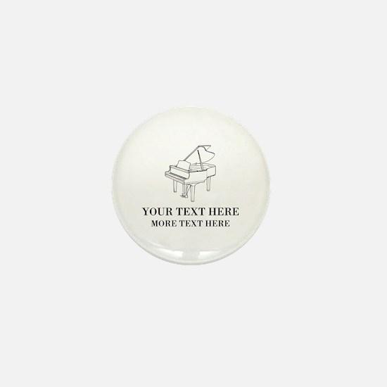 Custom piano Mini Button