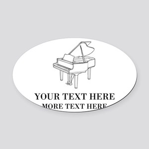 Custom piano Oval Car Magnet