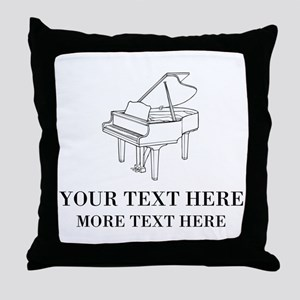 Chic Throw Pillow For Piano Lessons School Teacher