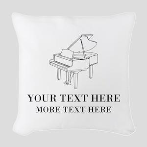 Custom piano Woven Throw Pillow