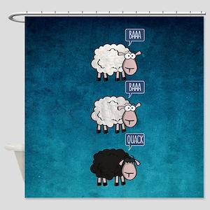 Bored Sheep Shower Curtain