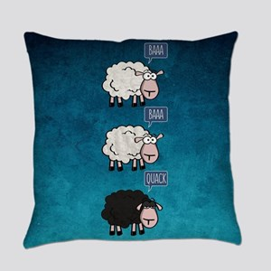Bored Sheep Everyday Pillow