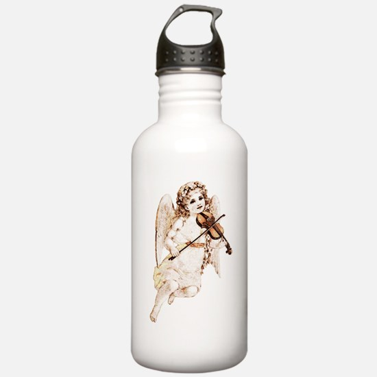 Angel With Violin Water Bottle