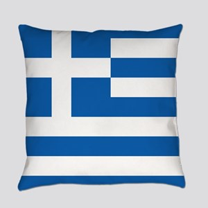 Flag of Greece Everyday Pillow