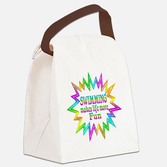 Swimming Makes Life More Fun Canvas Lunch Bag