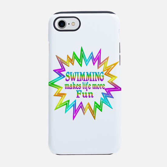 Swimming Makes Life More Fun iPhone 8/7 Tough Case