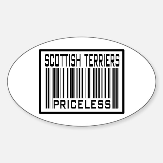 Scottish Terriers Priceless Oval Decal