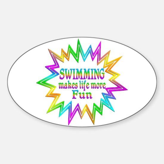 Swimming Makes Life More Fun Decal