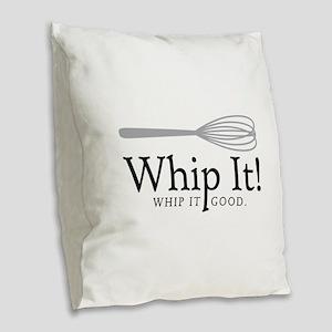 Whip It Burlap Throw Pillow