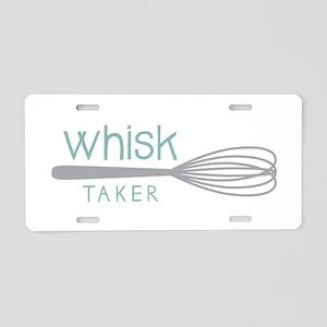 Whisk Taker Aluminum License Plate