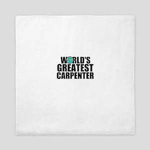 World's Greatest Carpenter Queen Duvet