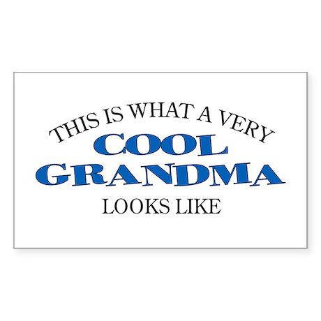 Cool Grandma Rectangle Sticker