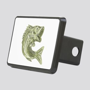 Largemouth Bass Fish Etching Hitch Cover