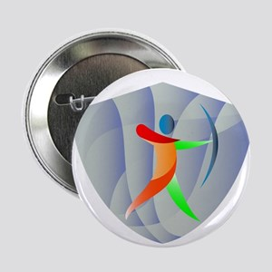 """Archer Archery Crest Retro 2.25"""" Button (10 pack)"""