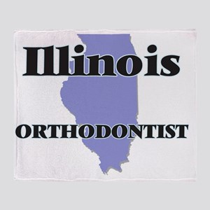 Illinois Orthodontist Throw Blanket