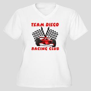Team Diego Women's Plus Size V-Neck T-Shirt