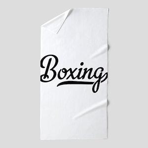 boxing Beach Towel