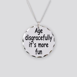Disgracefully 2 Necklace Circle Charm