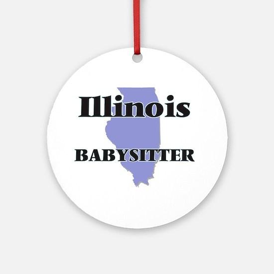 Illinois Babysitter Round Ornament