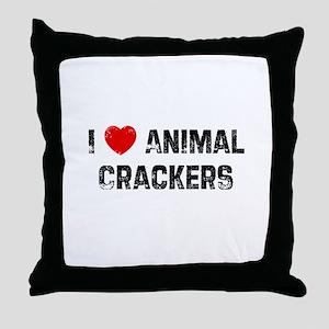 I * Animal Crackers Throw Pillow