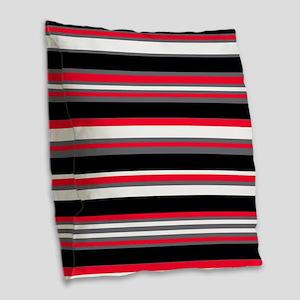 Horizontal Stripes Pattern: Ch Burlap Throw Pillow