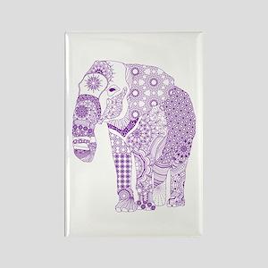 Tangled Purple Elephant Magnets