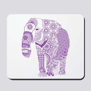 Tangled Purple Elephant Mousepad