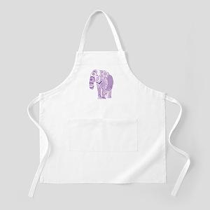 Tangled Purple Elephant Apron