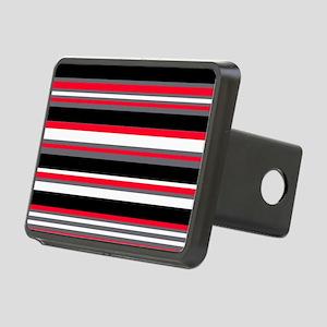 Horizontal Stripes Pattern Rectangular Hitch Cover