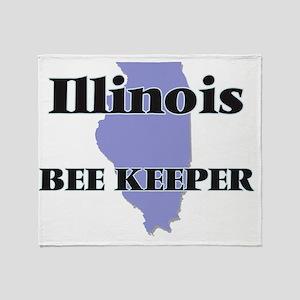 Illinois Bee Keeper Throw Blanket