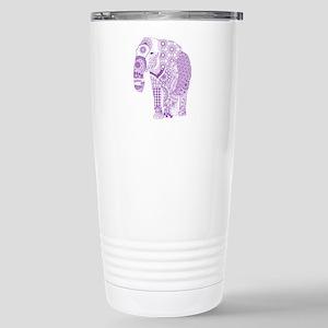 Tangled Purple Elephant Stainless Steel Travel Mug
