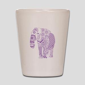 Tangled Purple Elephant Shot Glass