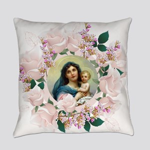 Madonna and Child Everyday Pillow