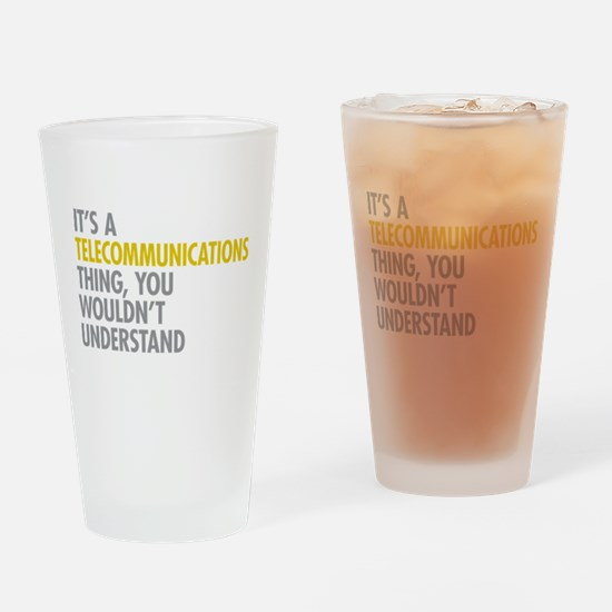 Telecommunications Thing Drinking Glass