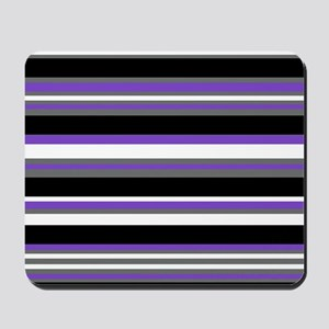 Horizontal Stripes Pattern: Purple Mousepad
