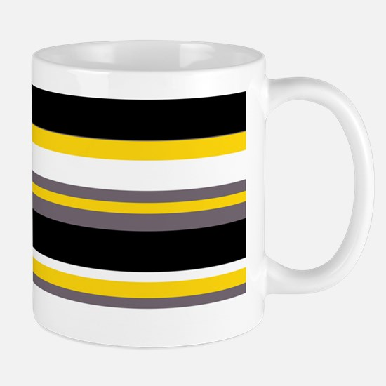 Horizontal Stripes Pattern: Yellow Mug