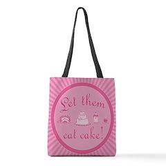 let-them-eat-cake_pink_b Polyester Tote Bag