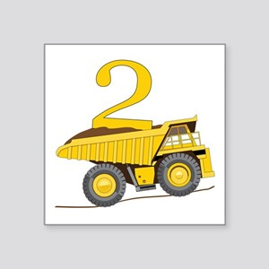 Dump Truck 2nd Birthday Sticker
