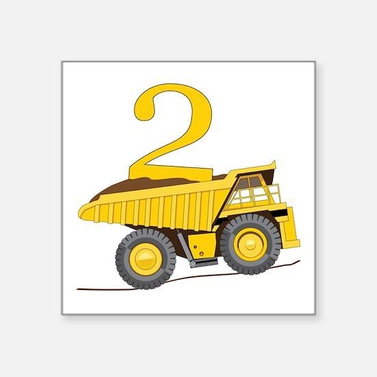Dump Truck 2nd Birthday Sticker