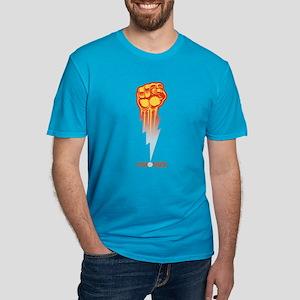 Unionize - Lightning F Men's Fitted T-Shirt (dark)