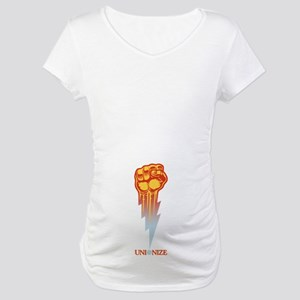 Unionize - Lightning Fist Maternity T-Shirt