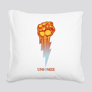 Unionize - Lightning Fist Square Canvas Pillow