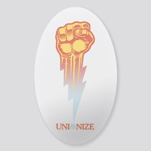 Unionize - Lightning Fist Sticker (Oval)