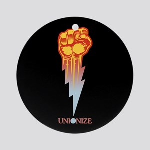 Unionize - Lightning Fist Round Ornament