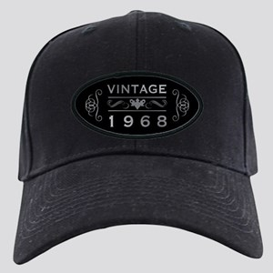 1968 Birth Year Black Cap with Patch