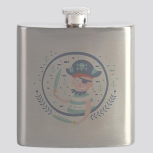 Pirate Fairy Tale Character Flask