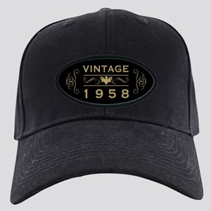 1958 Birth Year Black Cap with Patch